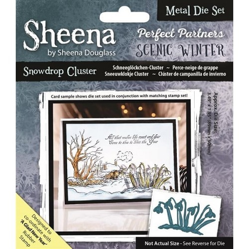 Sheena Douglass - Die - Scenic Winter - Snowdrop Cluster