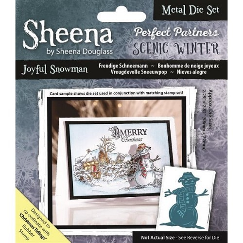 Sheena Douglass - Die - Scenic Winter - Joyful Snowman