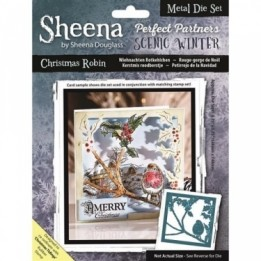 Sheena Douglass - Die - Scenic Winter - Christmas Robin