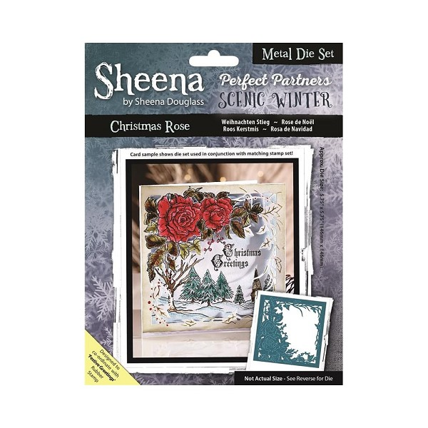 Sheena Douglass - Die - Scenic Winter - Christmas Rose