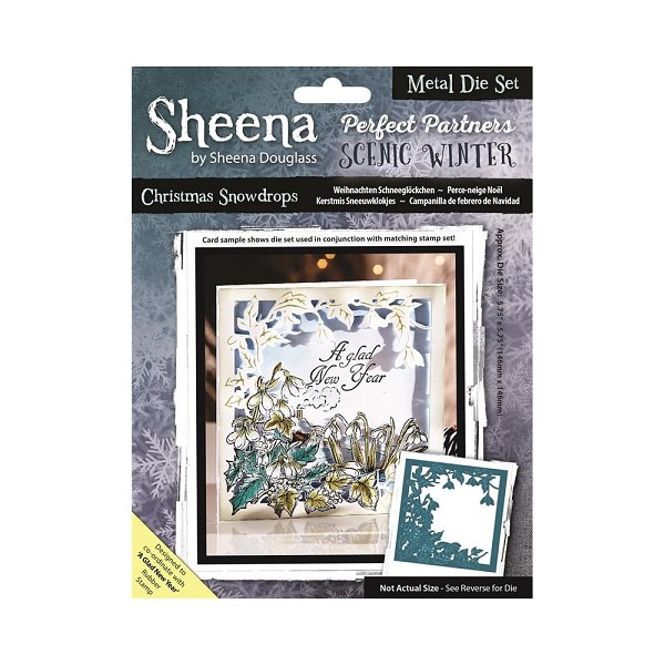 Sheena Douglass - Die - Scenic Winter - Christmas Snowdrops