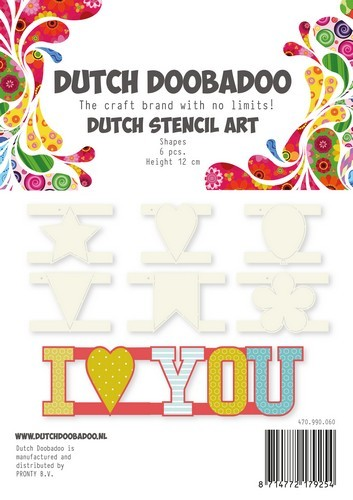 Dutch Doobadoo - Stencil Art - I LOVE YOU - 470.990.060