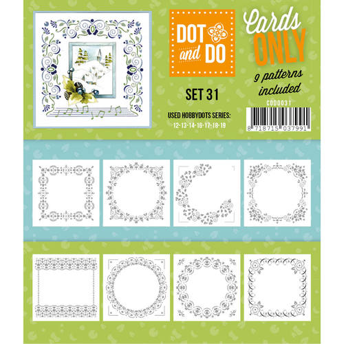 Card Deco - Oplegkaarten - Dot & Do - Cards Only - Set 31 - CODO031