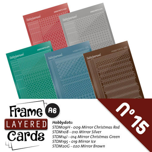 Hobbyjournaal - Stickerset - Frame Layered Cards A6 - no. 15 - LCST015