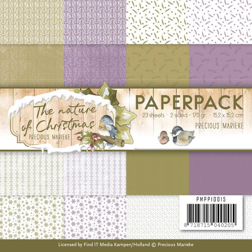 Card Deco - Precious Marieke - Paperpack - The Nature of Christmas - PMPP10015