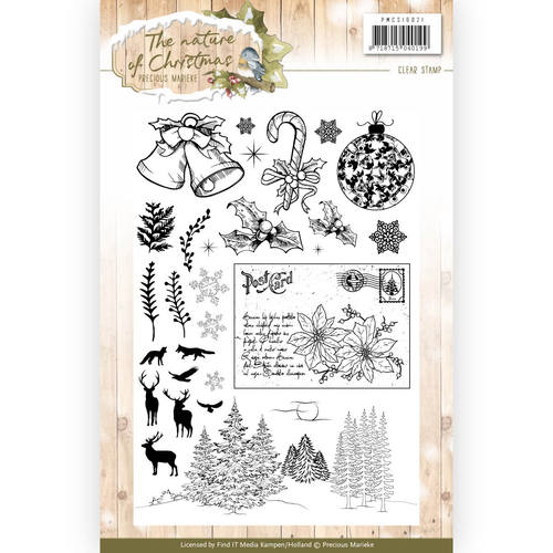 Precious Marieke - Clearstamp - The Nature of Christmas - PMCS10021