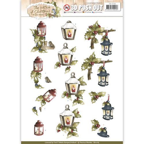 Precious Marieke - (3D-)Stansvel A4 - The Nature of Christmas - Christmas Lantern - SB10185