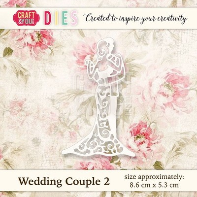 Craft & You Design - Die - Wedding couple 2 - CW019