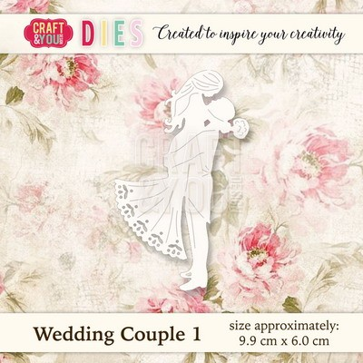 Craft & You Design - Die - Wedding couple 1 - CW018