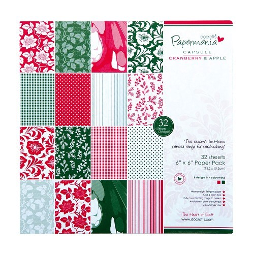 Papermania - Paperpack - Capsule Collection - Cranberry & Apple - PMA1607412