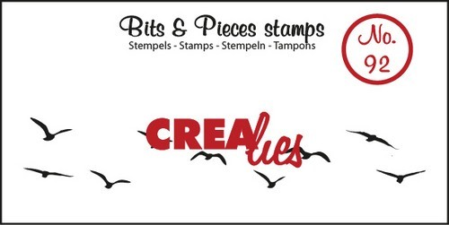 Crealies - Clearstamp - Bits & Pieces - No. 92 - Birds in the sky - CLBP92