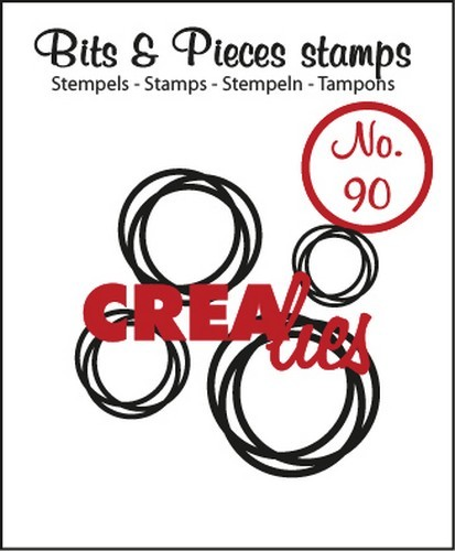 Crealies - Clearstamp - Bits & Pieces - No. 90 - Intertwined circles - CLBP90