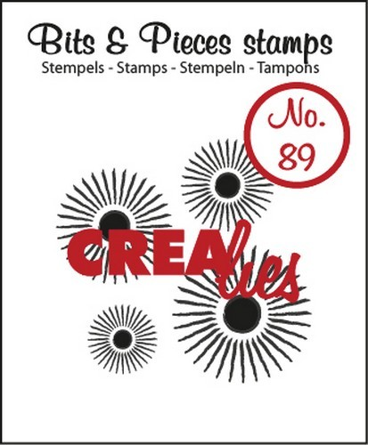 Crealies - Clearstamp - Bits & Pieces - No. 89 - Sun - CLBP89