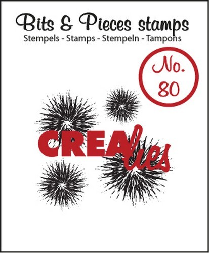 Crealies - Clearstamp - Bits & Pieces - No. 80 - Extra grunge circles - CLBP80