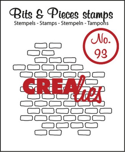 Crealies - Clearstamp - Bits & Pieces - No. 93 - Open bricks small - CLBP93