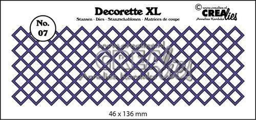 Crealies - Die - Decorette XL - No. 07 - Vierkant diagonaal