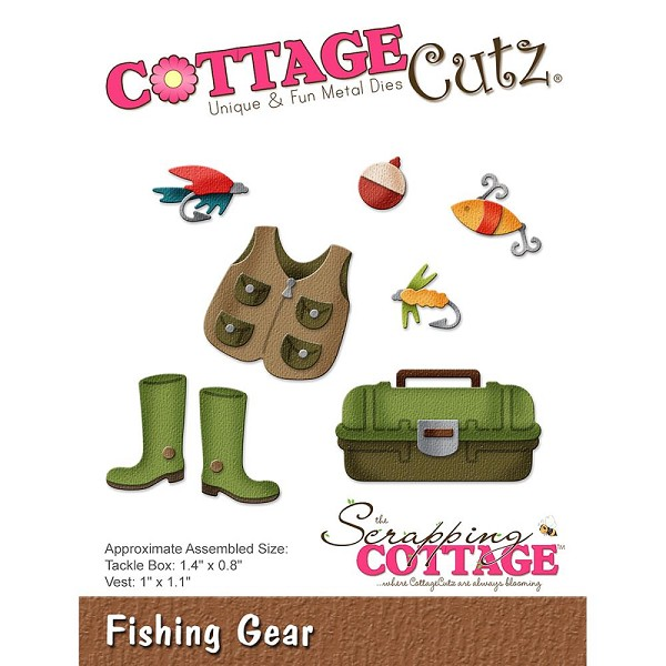 Cottage Cutz - Die - Fishing Gear - CC-256