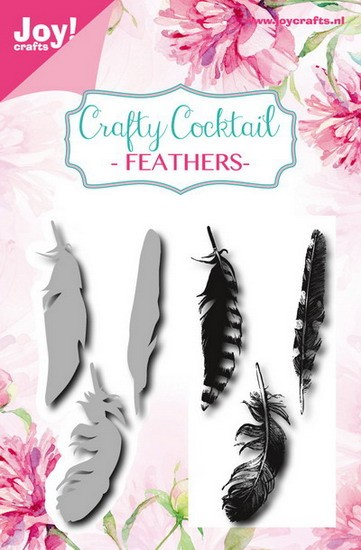 Joy! crafts - Clearstamp met mal - Crafty Cocktail - Feathers - 6004/0015