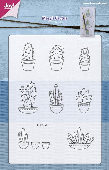 Joy! crafts - Clearstamp - Mery`s Cactussen - 6004/0403