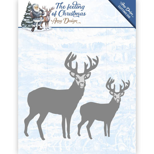 Card Deco - Amy Design - Die - The feeling of Christmas - Christmas reindeers