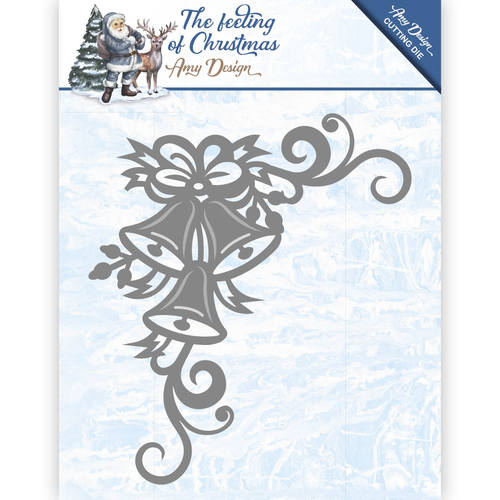 Amy Design - Die - The feeling of Christmas - Christmas bells corner - ADD10114