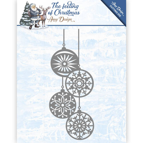 Amy Design - Die - The feeling of Christmas - Christmas balls - ADD10113