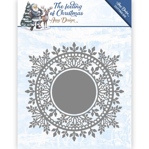 Card Deco - Amy Design - Die - The feeling of Christmas - Ice chyristal circle - ADD10110