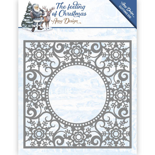 Amy Design - Die - The feeling of Christmas - Ice chyristal frame - ADD10109