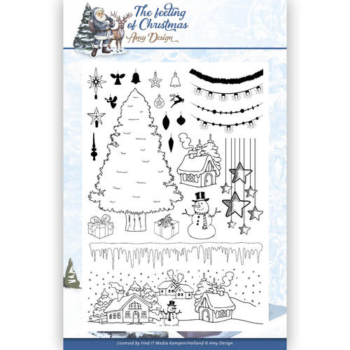 Amy Design - Clearstamp - The feeling of Christmas - ADCS10019