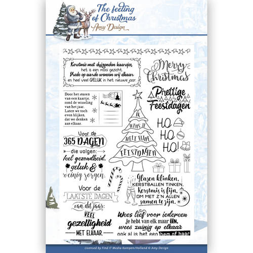 Amy Design - Clearstamp - The feeling of Christmas - ADCS10018
