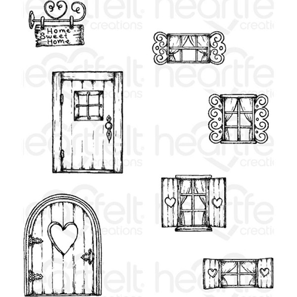 Heartfelt Creations - Cling Stamp - Wildwood Cottage - HCPC3771