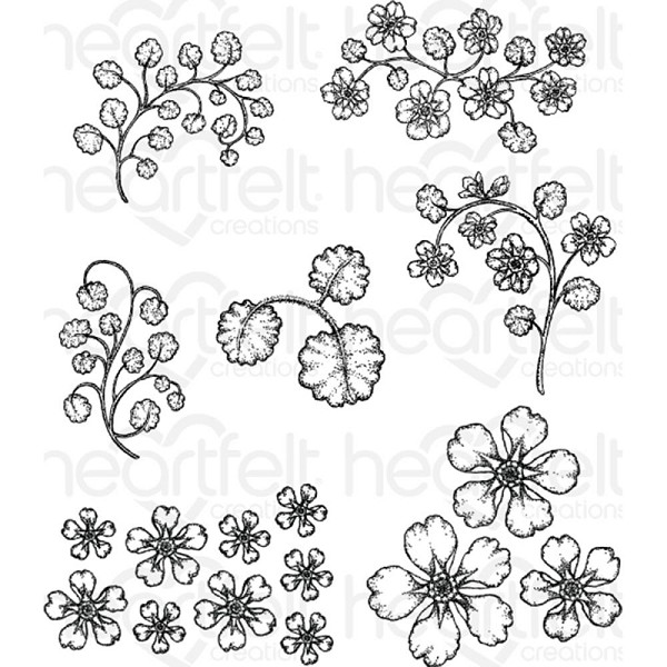 Heartfelt Creations - Cling Stamp - Wildwood Florals - HCPC3769