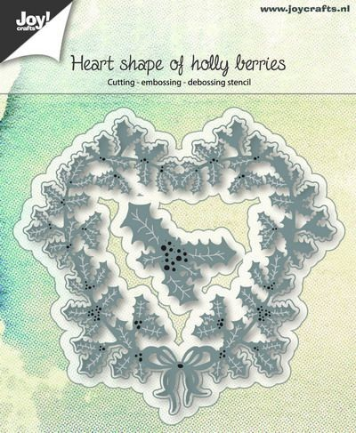 Joy! crafts - Die - Heart shape of holly berries