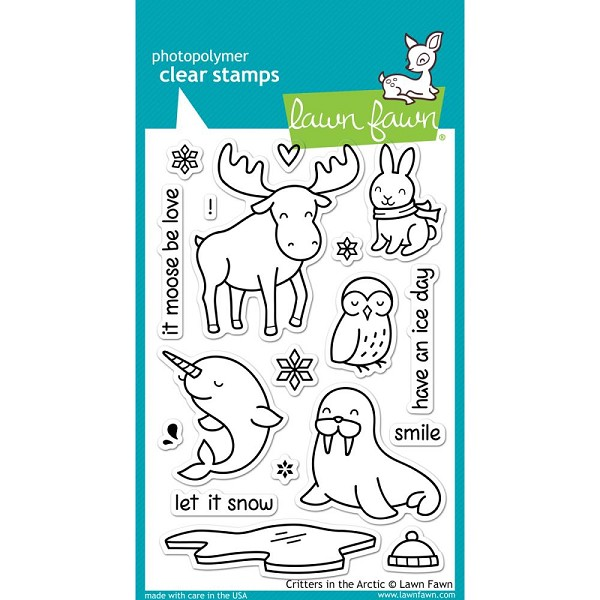 Lawn Fawn - Clearstamps - Critters in the arctic - LF0708