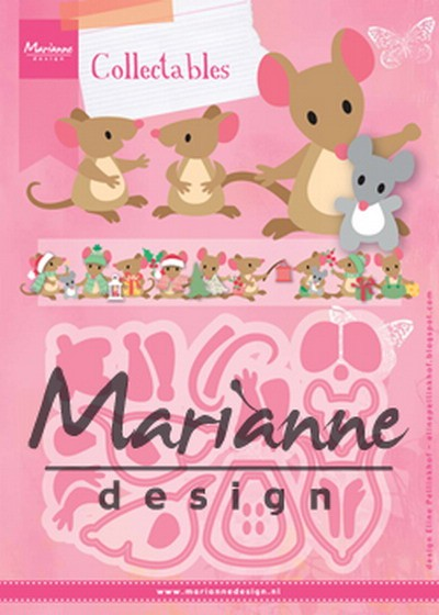 Marianne Design - Die - Collectables - Eline`s mice family - COL1437