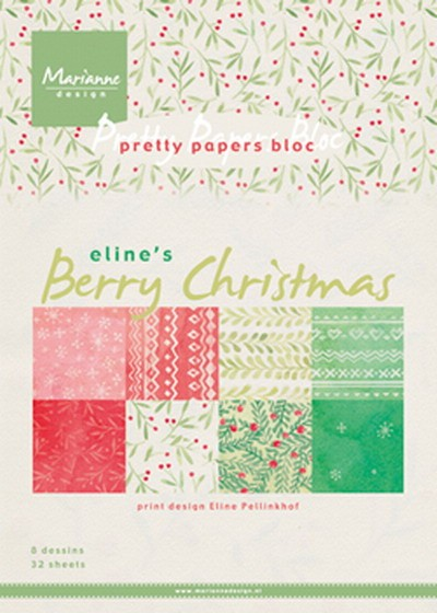 Marianne Design - Paperpack - Pretty Papers - Berry Christmas - PB7053