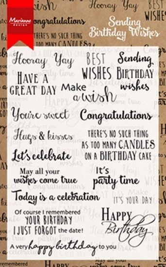 Marianne Design - Clearstamp - Birthday wishes - CS0996