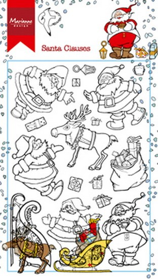 Marianne Design - Hetty Meeuwsen - Clearstamp - Hetty`s Santa Clauses - HT1624