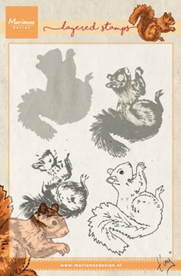 Marianne Design - Tiny`s - Clearstamp - Tiny`s squirrel (layering) - TC0856