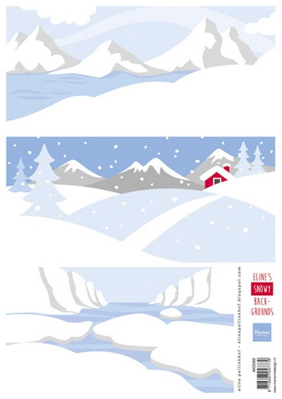 Marianne Design - Eline Pellinkhof - 3D-knipvel A4 - Eline`s Snowy Background - AK0069