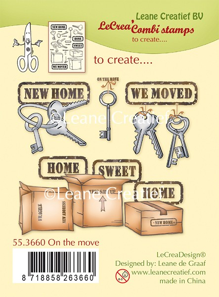 Leane Creatief - Clearstamp - On the move - 55.3660