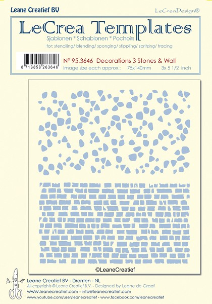 LeCreaDesign - Maskingstencil - Decorations 3 - Stones & Wall - 95.3646