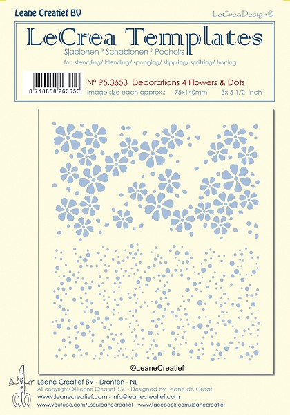 LeCreaDesign - Maskingstencil - Decorations 4 - Flowers & Dots - 95.3653