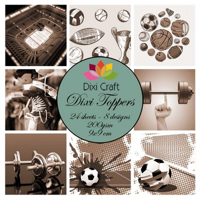 Dixi Craft - Paperpack - Sports 1: sepia - ET0295
