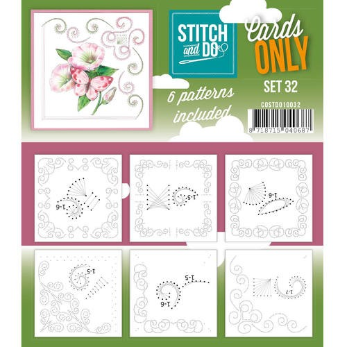 Card Deco - Stitch & Do - Oplegkaarten - Cards only - Set 32 - COSTDO10032