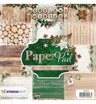 Studio Light - Paper Pack - 152 x 152mm - Woodland Winter Collection