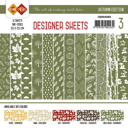 Card Deco - Paperpack - Designer Sheets - Autumn Edition: Mosgroen - CDDSMG003