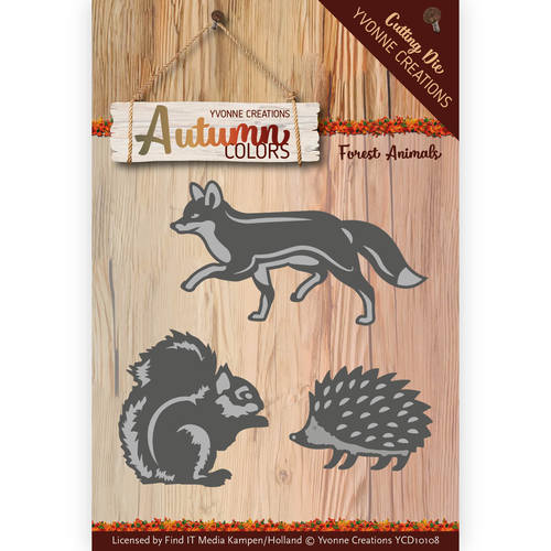 Yvonne Creations - Die - Autumn Colors - Forest Animals - YCD10108