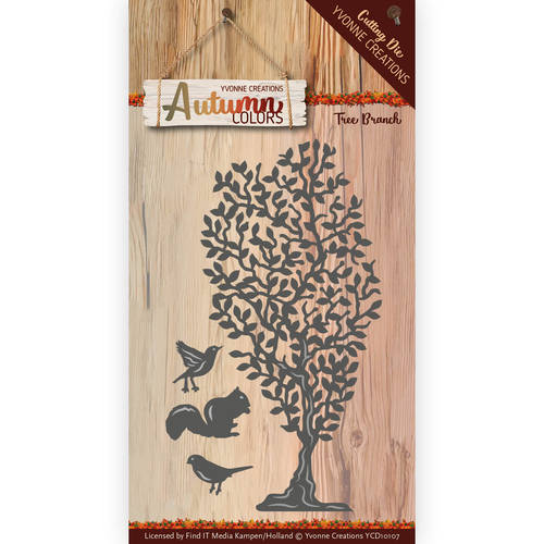 Yvonne Creations - Die - Autumn Color - Tree Branch - YCD10107