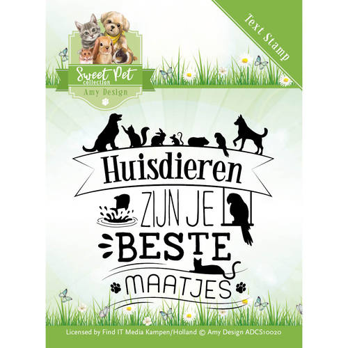 Amy Design - Clearstamp - Sweet Pet Collection - tekst - ADCS10020